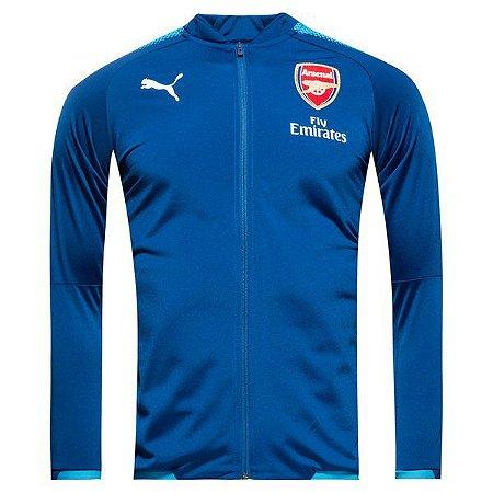 Jaqueta oficial Puma Arsenal 2017 2018 Azul