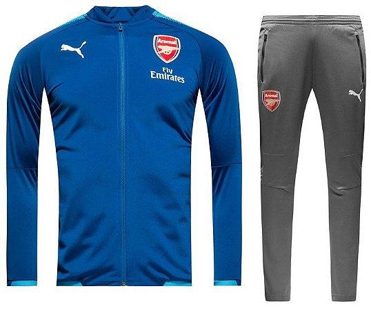 Kit treinamento oficial Puma Arsenal 2017 2018 Azul