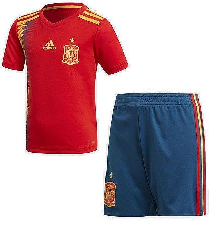 Kit infantil oficial Adidas seleção da Espanha 2018 I jogador