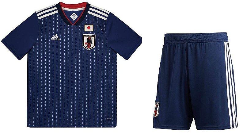 Kit infantil oficial Adidas seleção do Japão 2018 I jogador