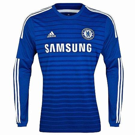 Camisa oficial Chelsea manga longa 2014 2015 I jogador