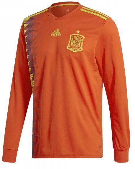 Camisa oficial Adidas seleção da Espanha 2018 I jogador manga comprida