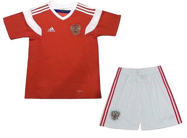 Kit infantil oficial Adidas seleção da Rússia 2018 I jogador