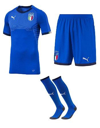 Kit adulto oficial Puma seleção da Itália 2018 I jogador
