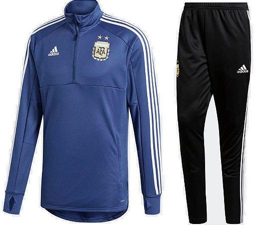 Kit treinamento oficial Adidas seleção da Argentina 2018 Azul