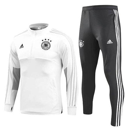 Kit treinamento oficial Adidas seleção da Alemanha 2018 Branco e preto