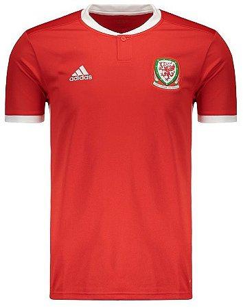 Camisa oficial Adidas seleção do País de Gales 2018 I jogador