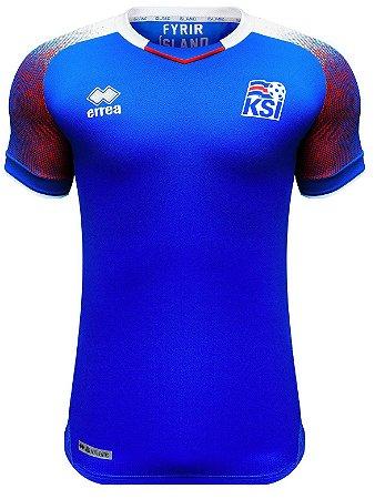 Camisa oficial Errea seleção da Islandia 2018 I jogador