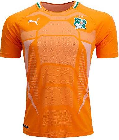 Camisa oficial Puma seleção da Costa do Marfim 2018 I jogador