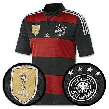 Camisa oficial Adidas Seleção da Alemanha II Jogador 4 estrelas