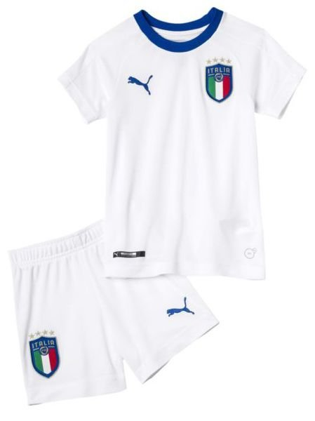 Kit infantil oficial Puma seleção da Itália 2018 II jogador