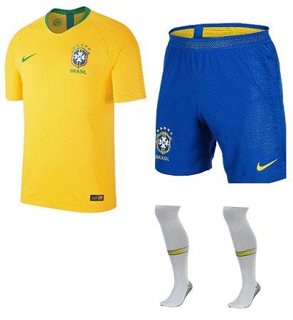 Kit adulto oficial Nike seleção do Brasil 2018 I jogador