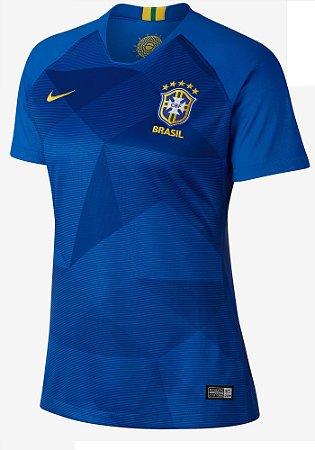 Camisa feminina oficial Nike seleção do Brasil 2018 II