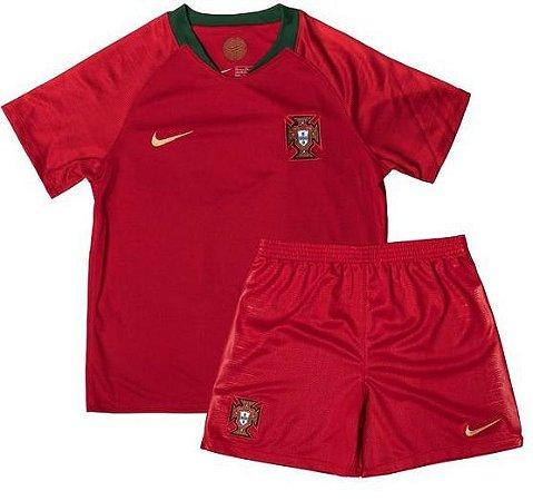 Kit infantil oficial Nike seleção de Portugal 2018 I jogador
