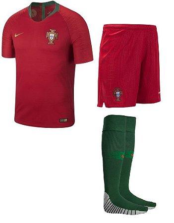 Kit adulto oficial Nike seleção de Portugal 2018 I jogador