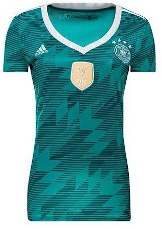 Camisa feminina oficial Adidas seleção da Alemanha 2018 II