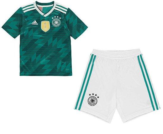 Kit infantil oficial Adidas seleção da Alemanha 2018 II jogador