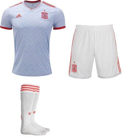 Kit adulto oficial Adidas seleção da Espanha 2018 II jogador