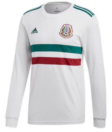 Camisa oficial Adidas seleção do México 2018 II jogador manga comprida