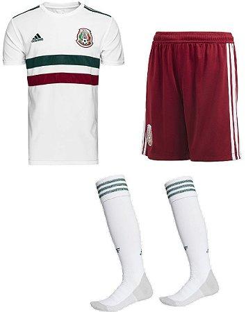 Kit adulto oficial Adidas seleção do México 2018 II jogador