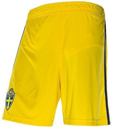 Calção oficial Adidas seleção da Suécia 2018 II jogador