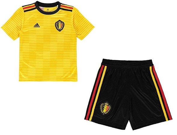 Kit infantil oficial Adidas seleção da Bélgica 2018 II jogador