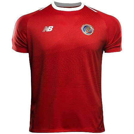 Camisa oficial New Balance seleção da Costa Rica 2018 I jogador