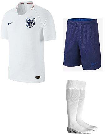 Kit adulto oficial Nike seleção da Inglaterra 2018 I jogador