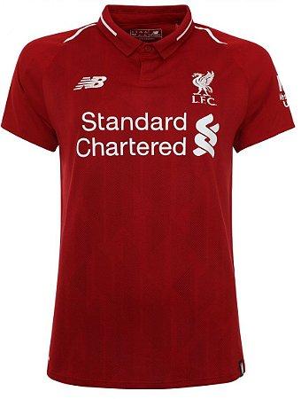 Camisa feminina oficial New Balance Liverpool 2018 2019 I