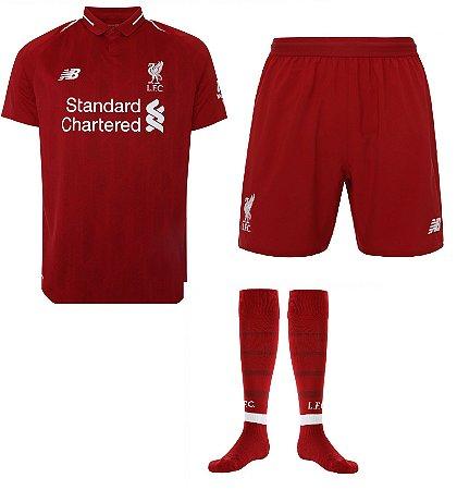 Kit adulto oficial New Balance Liverpool 2018 2019 I jogador