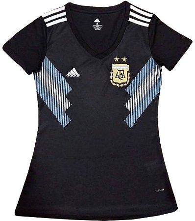 Camisa feminina oficial Adidas seleção da Argentina 2018 II