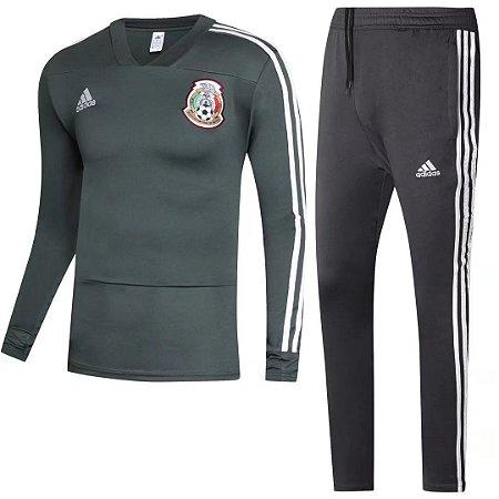 Kit treinamento oficial Adidas seleção do México Verde e preto 2018