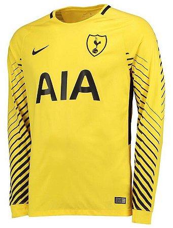 Camisa oficial Nike Tottenham 2017 2018 II goleiro manga comprida