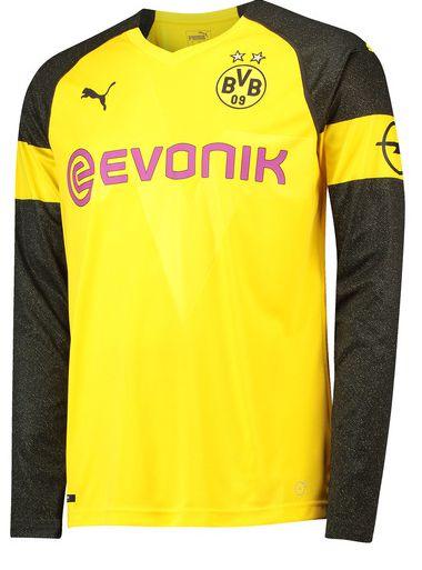 Camisa oficial Puma Borussia Dortmund 2018 2019 I jogador manga comprida