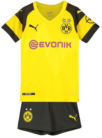Kit infantil oficial Puma Borussia Dortmund 2018 2019 I jogador