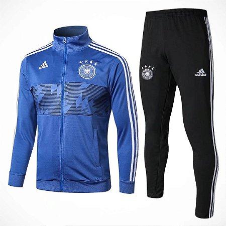 Kit adulto oficial Adidas seleção da Alemanha 2018 Azul e preto