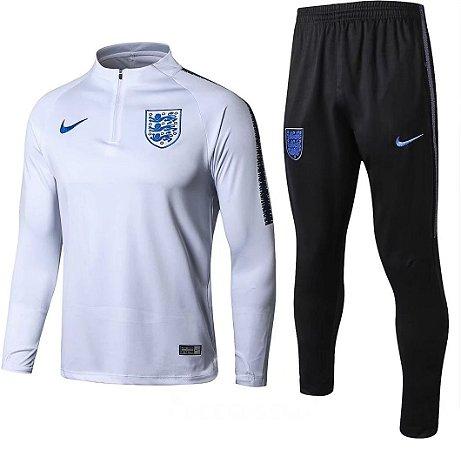 Kit treinamento oficial Nike seleção da Inglaterra 2018 Branco e preto