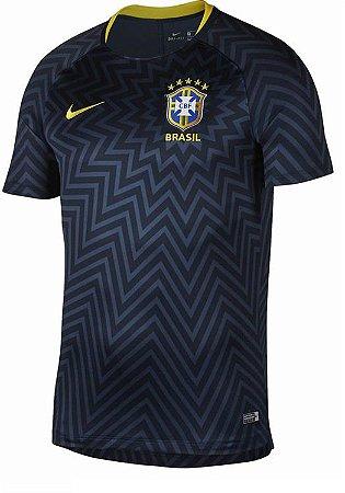 Camisa de treinamento oficial Nike seleção do Brasil 2018 Preta