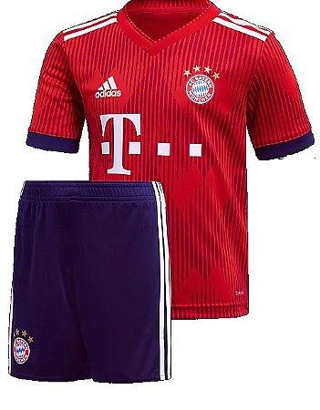 Kit infantil oficial Adidas Bayern de Munique 2018 2019 I jogador