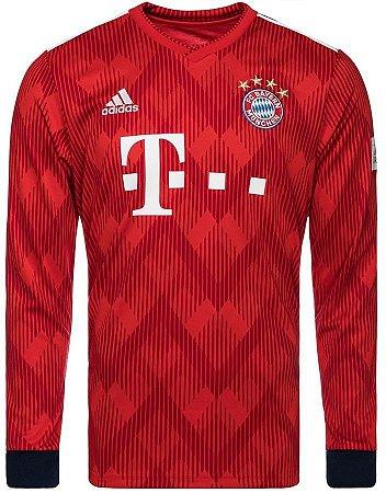 Camisa oficial Adidas Bayern de Munique 2018 2019 I jogador manga comprida