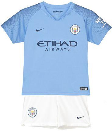Kit infantil oficial Nike Manchester City 2018 2019 I jogador