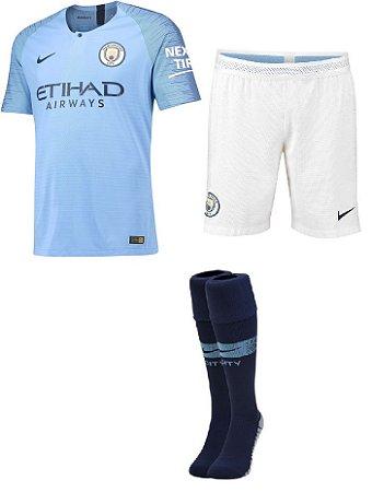 Kit adulto oficial Nike Manchester City 2018 2019 I jogador