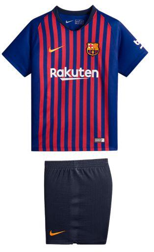 Kit infantil oficial Nike Barcelona 2018 2019 I jogador