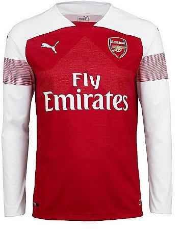 Camisa oficial Puma Arsenal 2018 2019 I jogador manga comprida