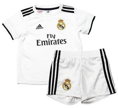 Kit infantil oficial Adidas Real Madrid 2018 2019 I jogador