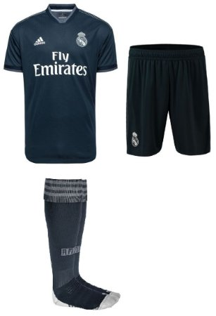 Kit adulto oficial Adidas Real Madrid 2018 2019 II jogador