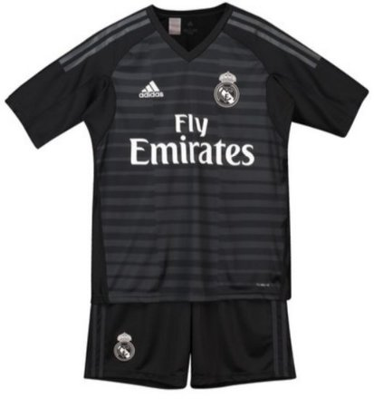 Kit infantil oficial Adidas Real Madrid 2018 2019 I goleiro
