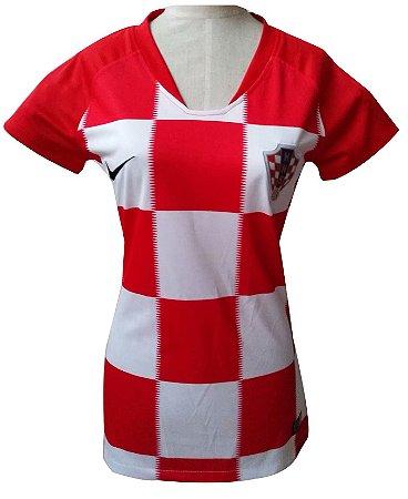 Camisa feminina oficial Nike seleção da Croácia 2018 I