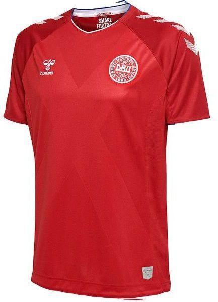 Camisa oficial Hummel seleção da Dinamarca 2018 I jogador