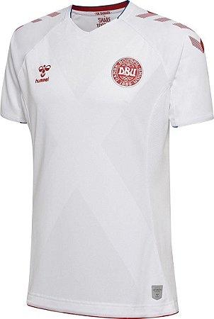 Camisa oficial Hummel seleção da Dinamarca 2018 II jogador